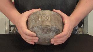 Pinch hand gripper block weight